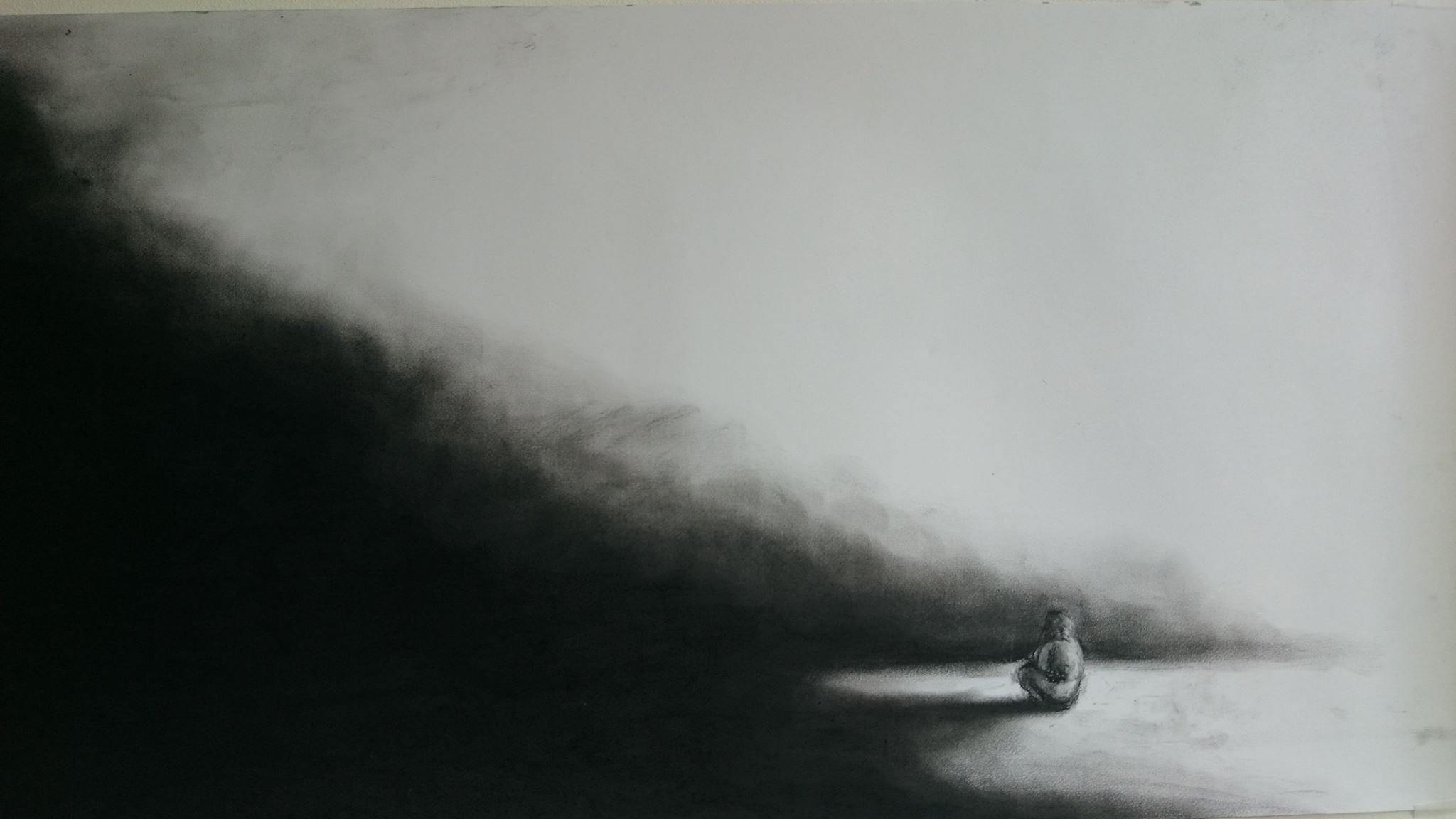 Border of darkness Alle Jong artist drawing .