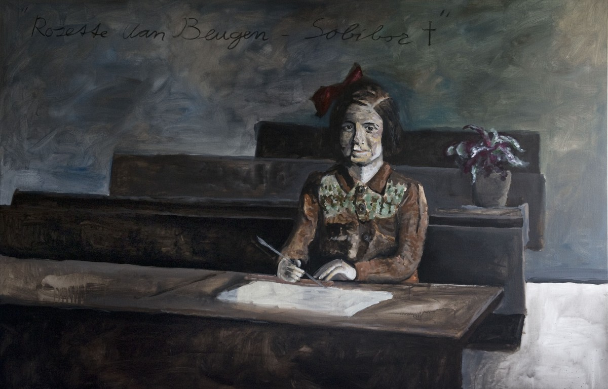 Rosette van beugen 230x150cm acryl charcoal on linnen 2013 Alle Jong photograph by Reyer Boxem 1200x768 Honorary Portrait of Irena Sendler & Rosette van beugen 230x150cm oil on linnen 2014