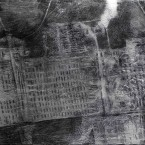 5. Concentration Camp 230x150cm charcoal pigment acryl on linnen 2014 145x145 More images