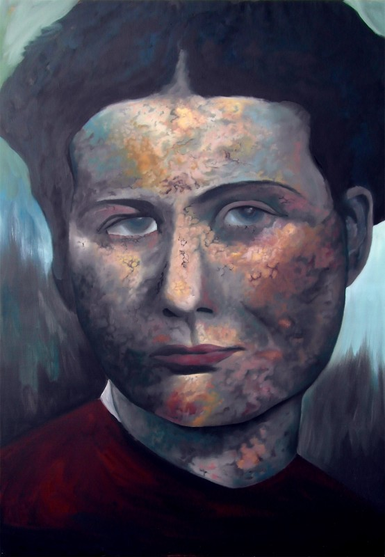 Irena Sendler 230x150cm oil on linnen 2014 Alle Jong sm 554x800 Honorary Portrait of Irena Sendler & Rosette van beugen 230x150cm oil on linnen 2014